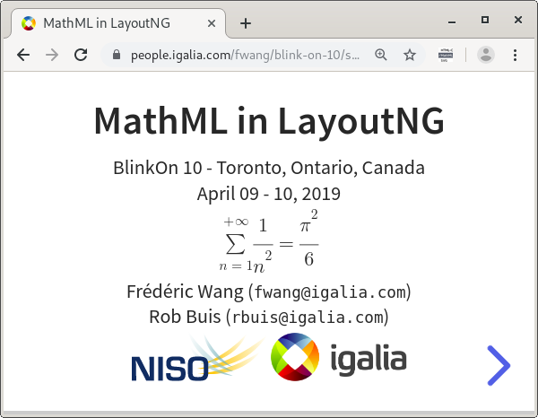 MathML in LayoutNG, BlinkOn 10